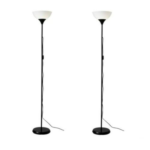 2 x ikea tall floor standing lamp black reading light uplighter 2 x new ikea tall floor standing lamp black reading light uplighter175cm tall aloadofball Images