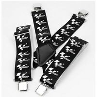 MotoGP Motorcycle Bike Rider Braces Moto GP Suspenders Black White Logo New