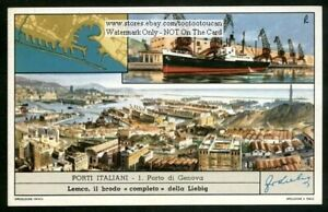 Port-Of-Genoa-Genova-Porto-Italy-c50-Y-O-Trade-Ad-Card