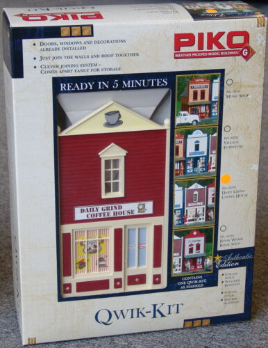 PIKO  COFFEE HOUSE SHOP  STORE G Scale Building Qwik Kit # 62723  New in box