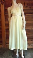 VINTAGE LUXITE YELLOW SIZE 34 NIGHTGOWN with PINK TRIM