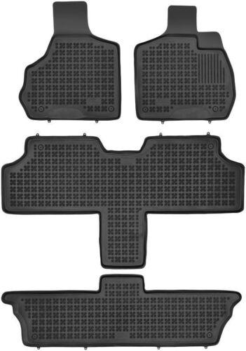 2001-2007 4-teilige schwarze Gummifußmatte für CHRYSLER Voyager IV 7 Sitze Bj