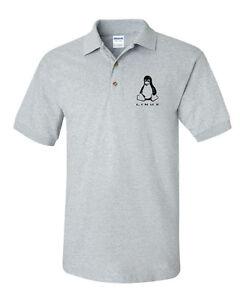 Linux Penguin Logo Polo Redhat Centos Ubuntu Tee Computer Geek T