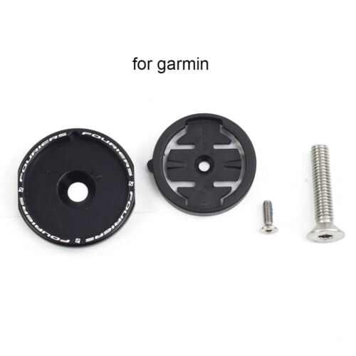 Fouriers Top Cap Fork Headset Cover Computer Mount for GARMIN WAHOO MIO BRYTON