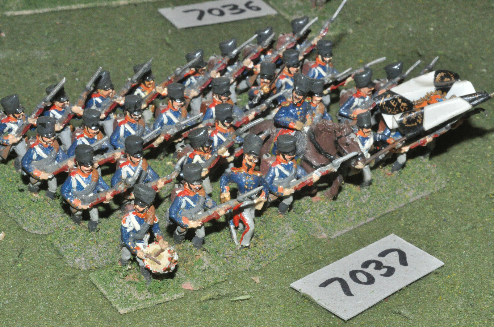 25mm napoleonic   prussian - infantry 32 figs metal painted - inf (7037)