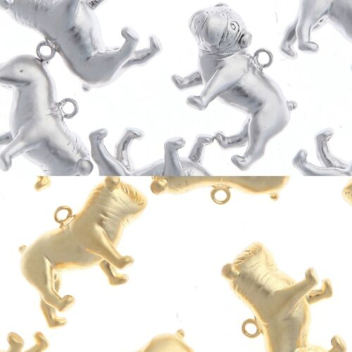 Bulldog Metal Beads Pendants for Necklace Earrings Jewelry Making Supplies #139