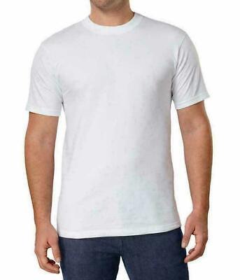 Kirkland Mens size M Cotton Crew Neck Basic T-Shirt Tee White Solid Shirt CHOP