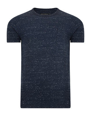 French Connection Stripe Fashion T-Shirt Coal Marine Blue Slim Fit Cotton Tee