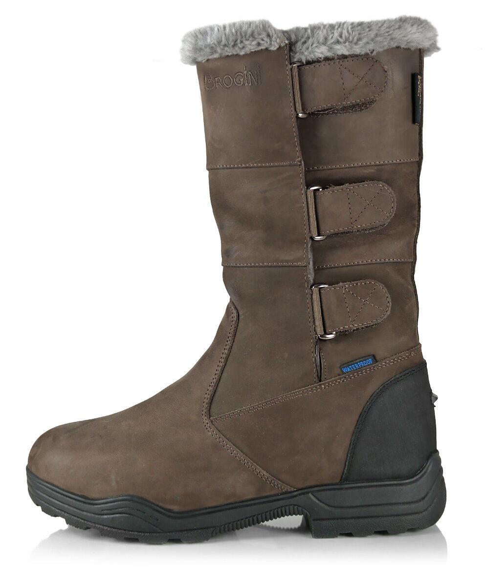 BROGINI Resistente II mezzo Medio Longitud Impermeable botas De Montar Cuero Nobuck