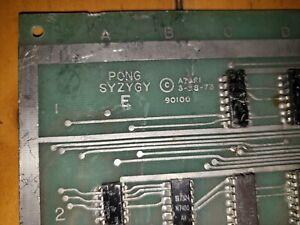 Pong-Syzygie-PCB-Atari-Original-Arcade-Videospiel-Board-Video-Spiel