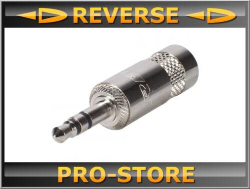 Rean NYS231 Klinke 3,5mm 3-pol Metall-,Löttechnik-Kabelstecker Klinke Jack