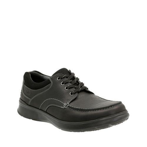 NEUF pour HOMME Clarks Cuir Noir à Lacets Décontracté Chaussures Cotrell Bord