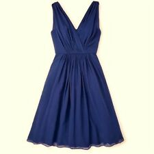 NWT ORG $368 BODEN COCKTAIL PARTY ROYAL BLUE SILK PLAZA DRESS BR037 - SIZE US 4