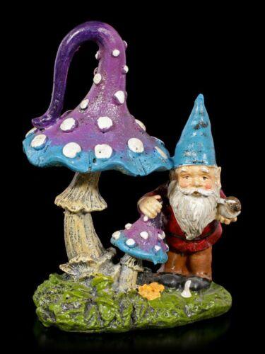 Fantasy niedliche Gartendeko Statue Gartenzwerg Figur mit Pilz und Schnecke
