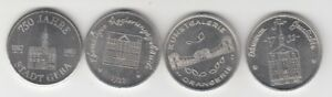 750 Years Gera 1987 - 4 Medals