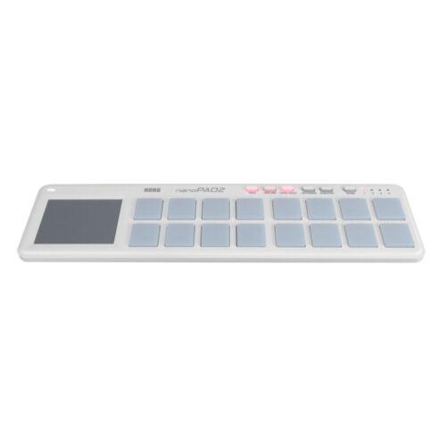 Korg NanoPad 2 Slim Line 16 Pad USB MIDI Controller White
