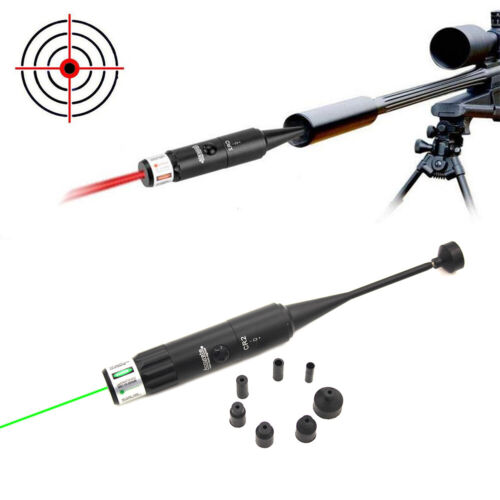 New Red Green Dot Bore Sight On Off Switch for .177 to .50 Caliber Rifle Scope