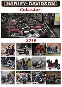 Harley Davidson Calendar 2019 A4