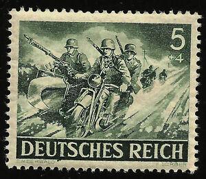 Ouvert D'Esprit 1943 Seconde Guerre Mondiale, L'allemagne Nazie Guerre Comme Neuf Original Stamp Souvenir Sheet Motards En Action Des Troupes-afficher Le Titre D'origine Volume Large