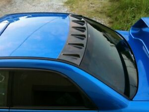 Carbon Look Roof Fin Vortex Spoiler Generator For 02 03 04 05 06 Subaru Wrx Sti Ebay