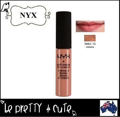 NYX Soft Matte Lip Cream SMLC15 ATHENS (Matte Peach Beige) -- AUSTRALIA --