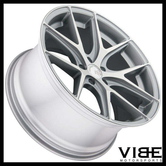 """19"""" AVANT GARDE M580 SILVER CONCAVE STAGGERED WHEELS RIMS"""