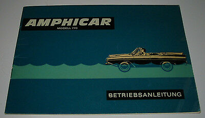 Betriebsanleitung Amphicar Modell 770 Bedienungsanleitung Handbuch Stand 1960! Tuur 100% Garantie