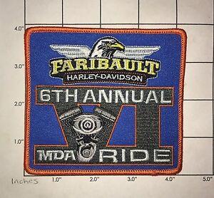 Faribault Harley-Davidson Patch - MDA 6th Annual Ride - Minnesota |