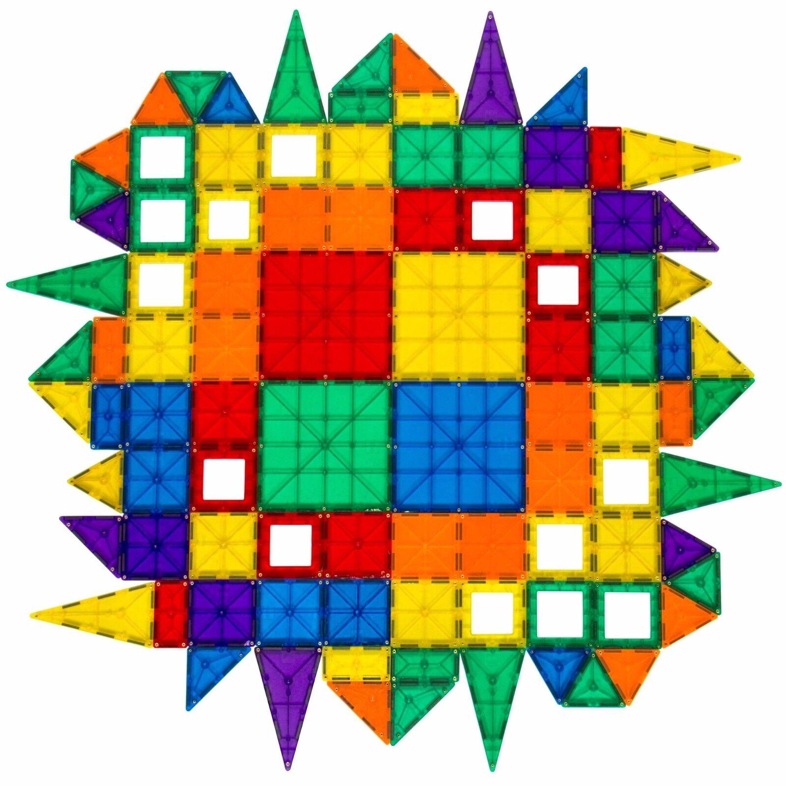 Creative niños educativo de 100 Piezas Conjunto De Azulejos Magnético Claro Multi Color