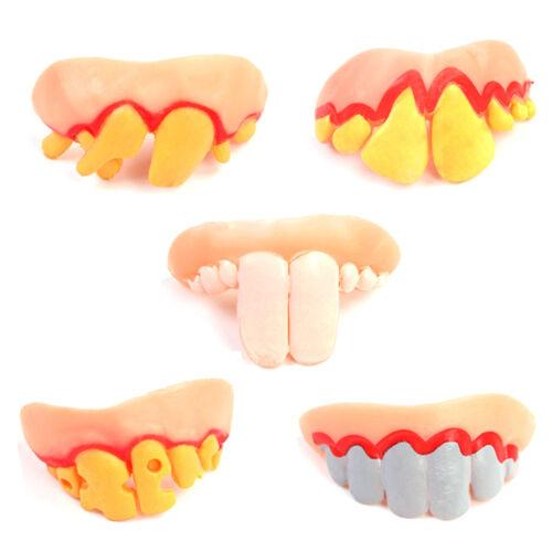 5pcs Plastic Joke Teeth Denture April Fool Fake Costume Party Props Trick Nice