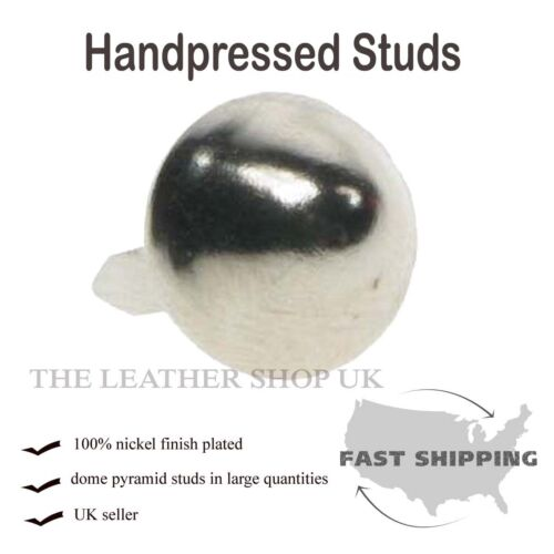 Handpressed UK Dome Conical Metal Studs Punk Shoe Cloth Craft Leather Accessory