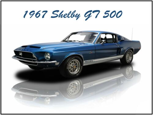 Fully Restored 1967 Shelby GT-500 Metal Sign