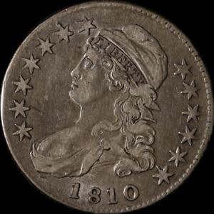 1810 Bust Half Dollar O-110 R.2 Nice XF Great Eye Appeal Nice Strike