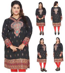 a3084311e59 UK STOCK - PLUS SIZE - Women Indian Kurti Tunic Kurta Top Shirt ...