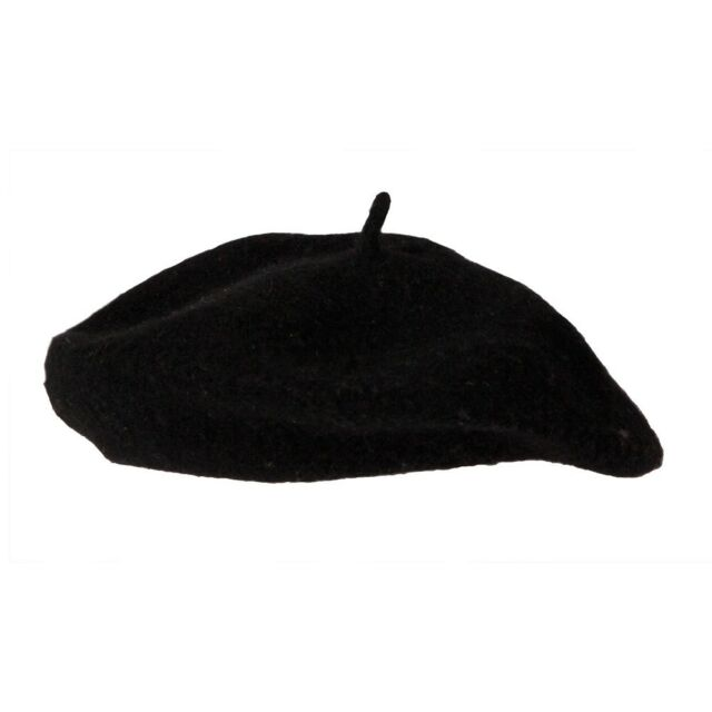 Unisex Black French Beret Hat Mime Cap Fancy Dress Costume Accessory New  Adults ba0e15dfc9f