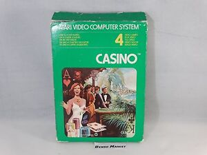 CASINO-ATARI-2600-VCS-VIDEOGIOCO-VINTAGE-ANNI-80-COMPLETO