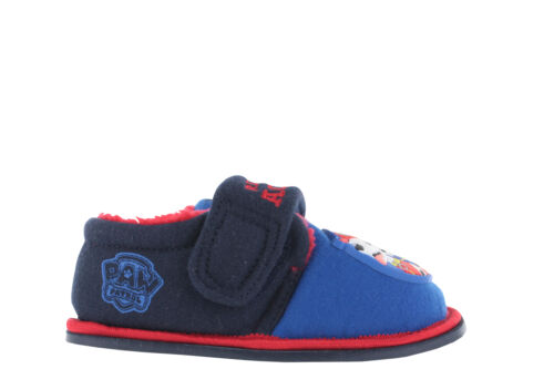 Boys Paw Patrol Flashing  Red /& Blue Hook /& Loop Slippers UK Infant Size 5-10