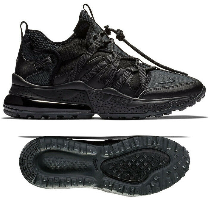 New NIKE Air Max 270 Bowfin Mens triple black sneaker all sizes