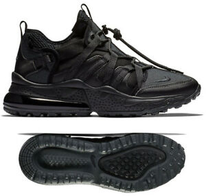 a1ee209ae7f5 New NIKE Air Max 270 Bowfin Mens triple black sneaker all sizes