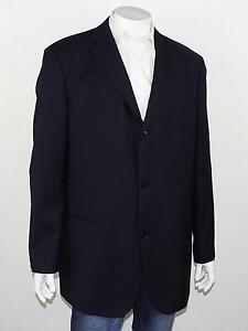 HUGO BOSS Dark Navy Blue Woven 100% Virgin Wool Tweed 3-Btn MARS Blazer 46L