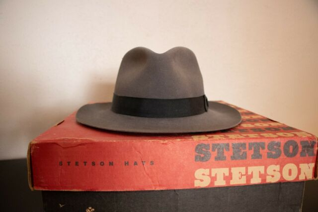 Stetson Chatham Fedora Grey Size 7 1 4 Classic Caribou Color  4e3755c43a4