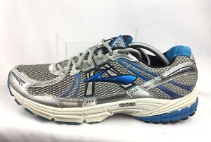 1981f15cee2 Brooks Adrenaline Men s GTS 12 Silver Blue Athletic Running Shoes Sz ...