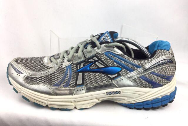 f880e7480f39d Brooks Adrenaline Men s GTS 12 Silver Blue Athletic Running Shoes Sz 12.5 M