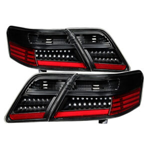 Fit Toyota 07-09 Camry Black LED Rear Tail Lights Lamps Upgraded Set