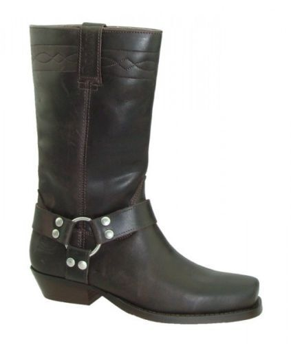 Dockers Biker Boots Boots Motorcycle Boots Boots Dark Brown Leather New