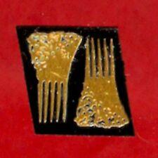 Dollhouse Miniature Pair Tiny Ornate Brass Hair  Combs Miniatures for Doll House
