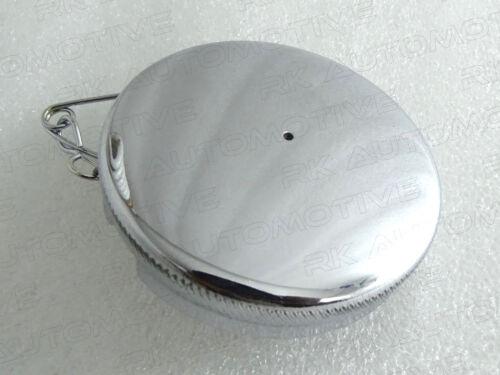 "TRIUMPH NORTON BSA DOMED CHROMED PETROL FUEL TANK CAP 2.5/"" 2 NEW BRAND"