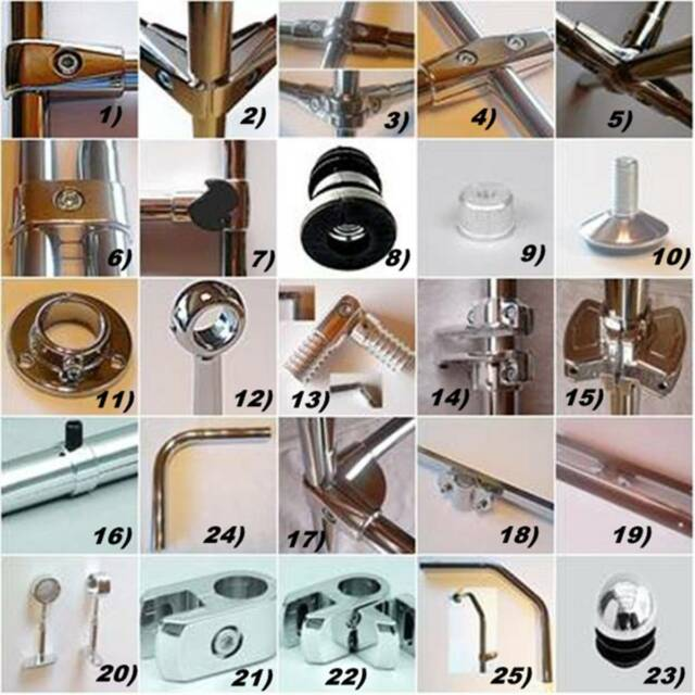Grillspieß Endanschlag für Grillspieß 16 mm Bratenspieß Spieß rund Spießstange