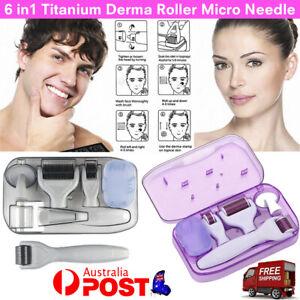 Derma Roller Anti Aging Skin Care Dermaroller Set 6In1 Titanium Micro Needle Kit