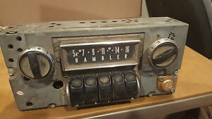 63-64-65-Rambler-AM-Radio-Classic-Ambassador-3TMR-12-volt-push-button